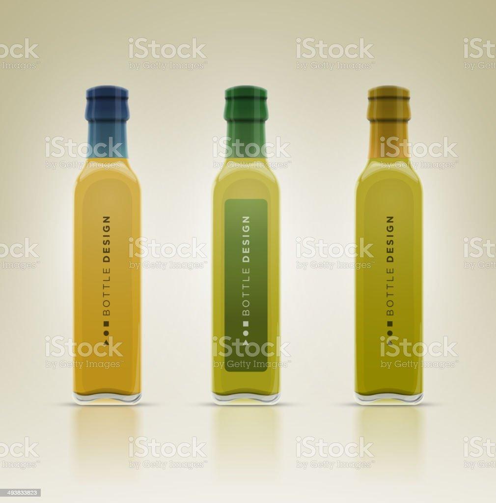 De vidro de garrafa de azeite. - ilustração de arte vetorial
