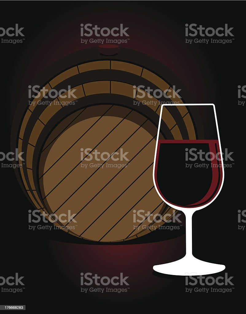 Glass or red wine with an oak cask royalty-free glass or red wine with an oak cask stock vector art & more images of aging process