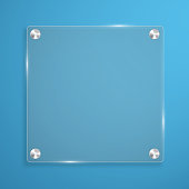 Glass plate background with rivets for text. Vector illustration.