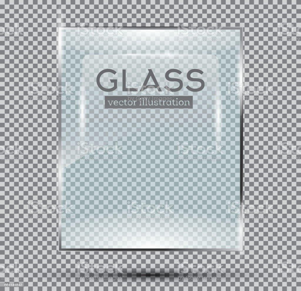 Glass Plate Isolated On Transparent Background. glass plate isolated on transparent background - immagini vettoriali stock e altre immagini di arte royalty-free