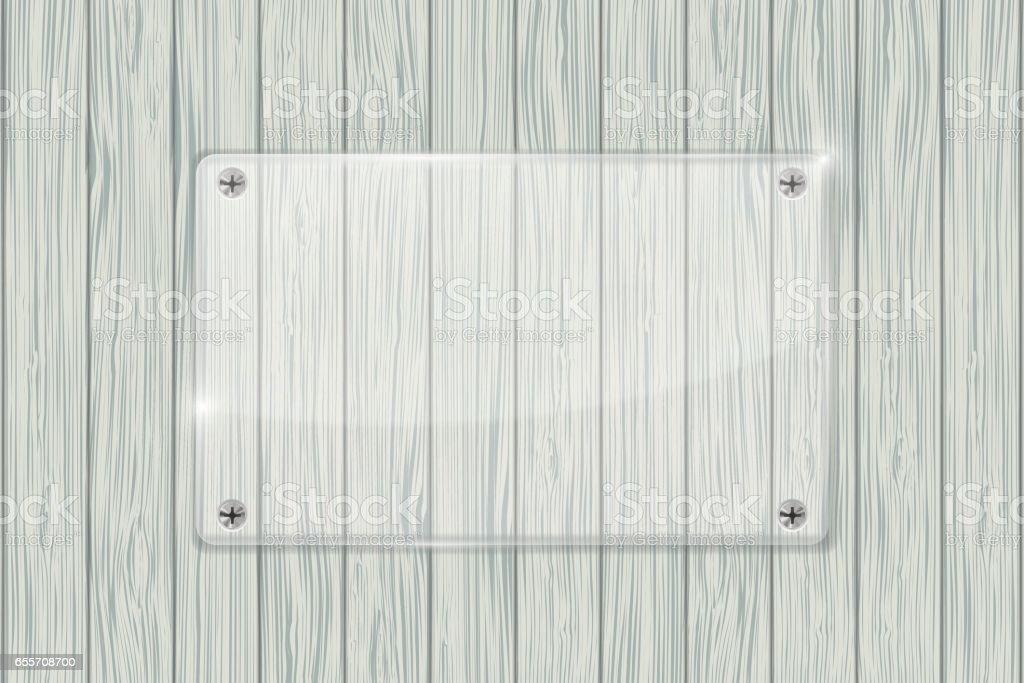 Glasplaat Voor Aan De Muur.Glasplaat Op Houten Muur Textuur Stockvectorkunst En Meer Beelden Van Achtergrond Thema