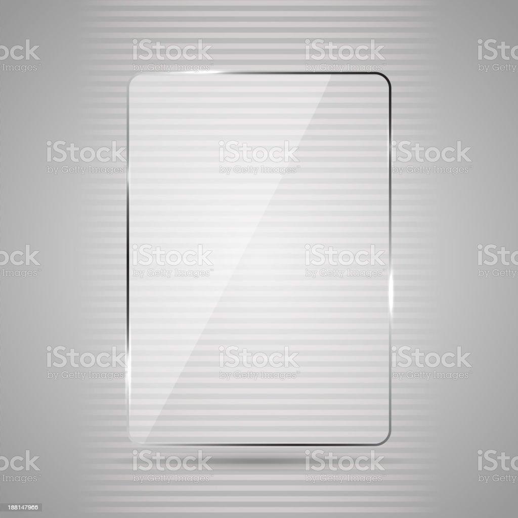 Placa de vidrio - ilustración de arte vectorial