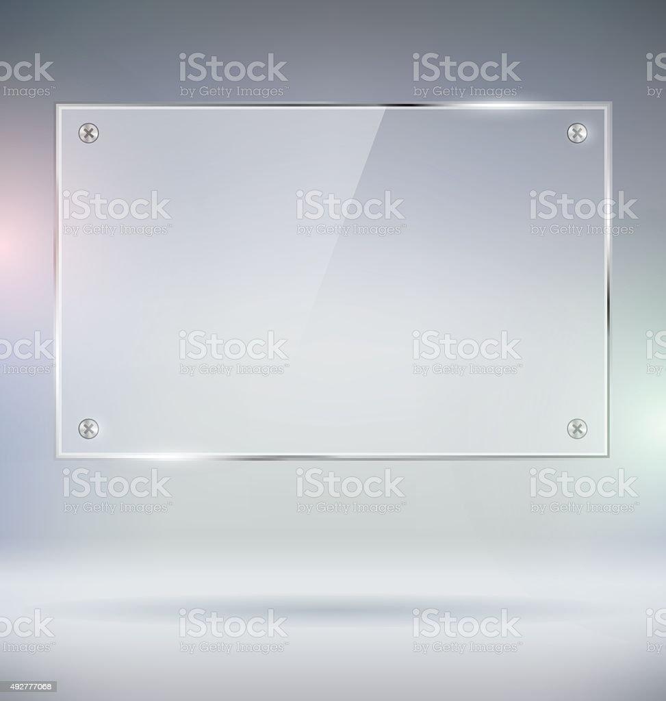 Glass Plate vector art illustration