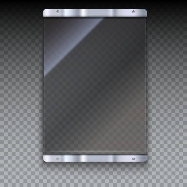 ガラス板にメタルフレーム - ガラスのテクスチャ点のイラスト素材/クリップアート素材/マンガ素材/アイコン素材