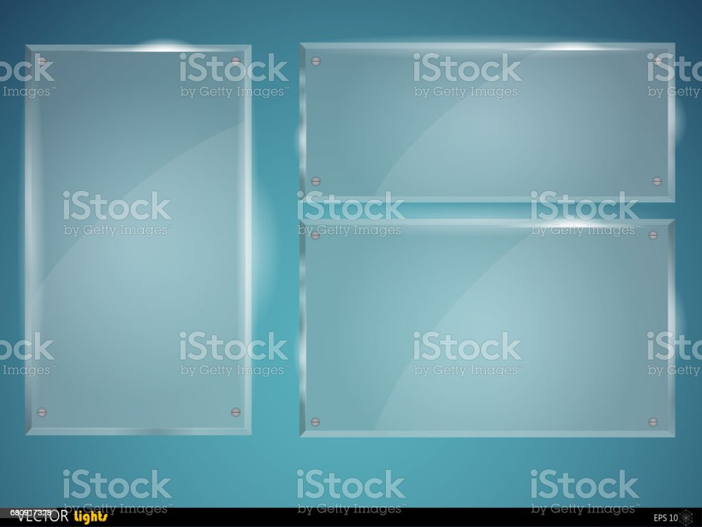 Glass plates set. Vector glass banners royalty-free glass plates set vector glass banners stock vector art & more images of abstract