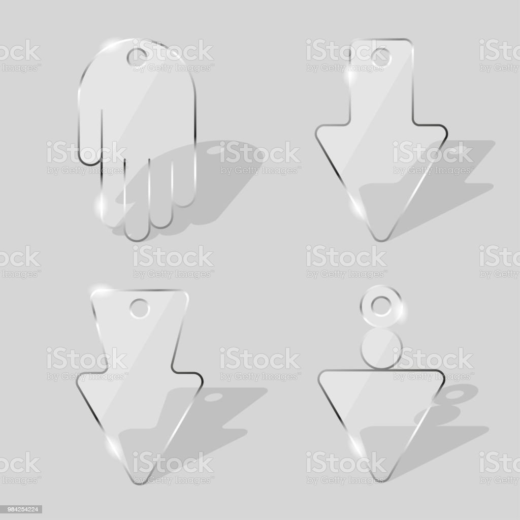 Glass plates. Transparent panels of various form. vector art illustration
