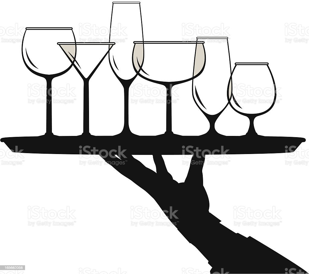 glass server royalty-free glass server stock vector art & more images of alcohol