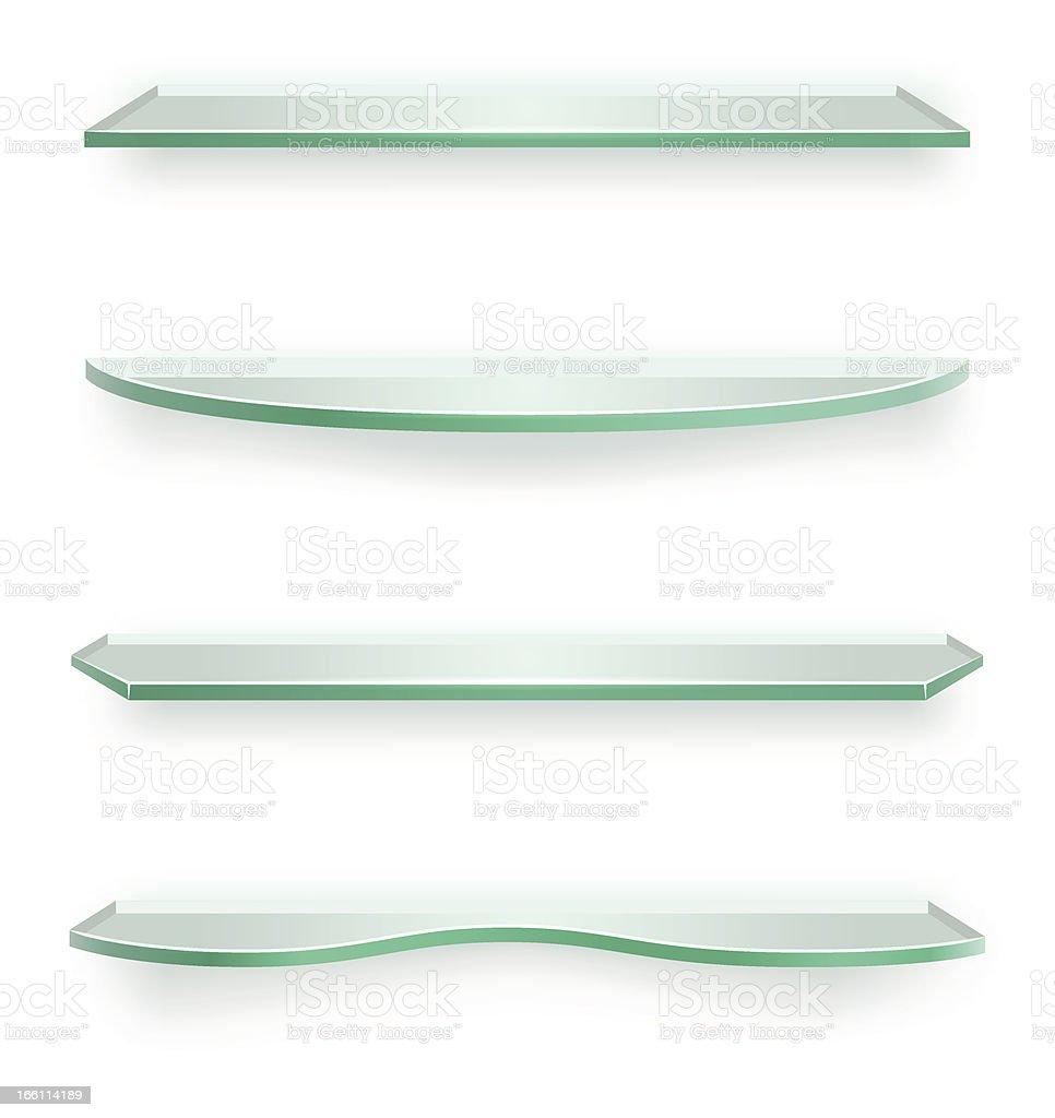 Glass shelves royalty-free stock vector art