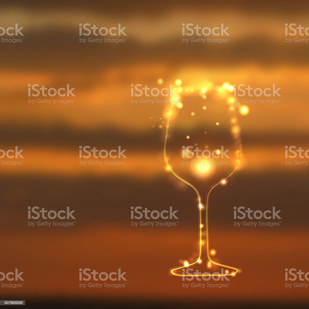 Glass shining with sparks. royalty-free stock vector art