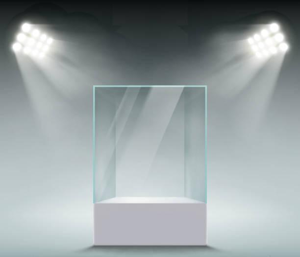 販売のためのガラスのショーケース - 美術館点のイラスト素材/クリップアート素材/マンガ素材/アイコン素材