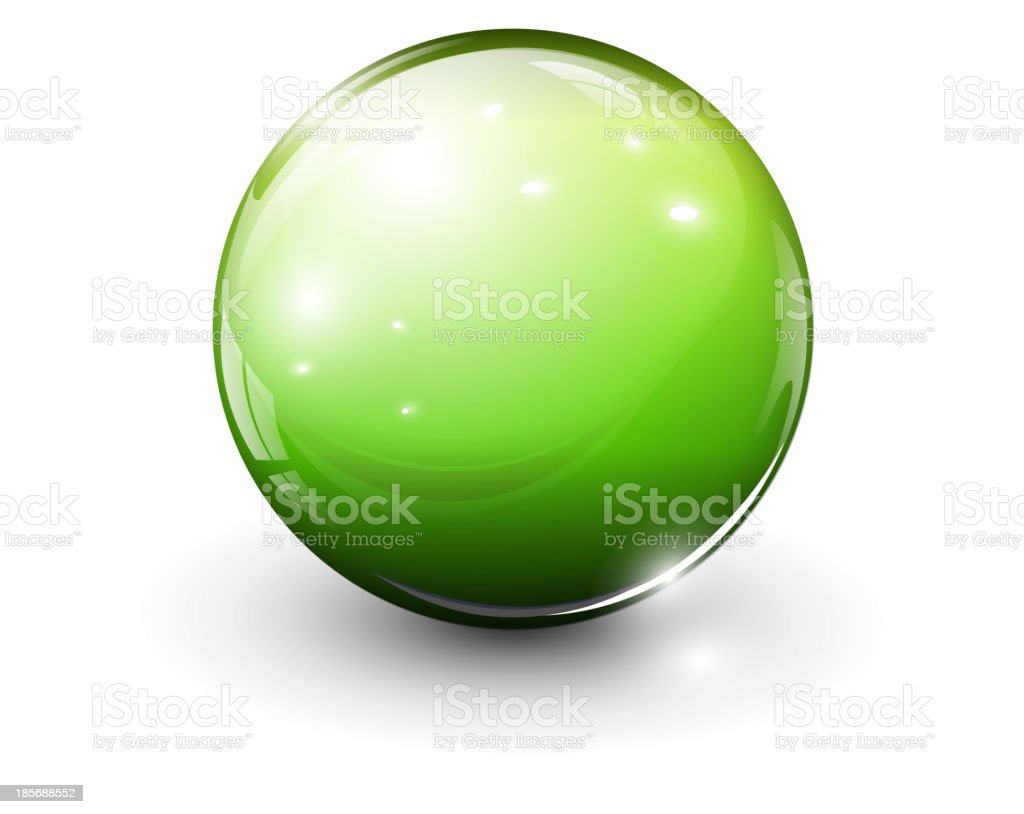 Glass sphere royalty-free stock vector art