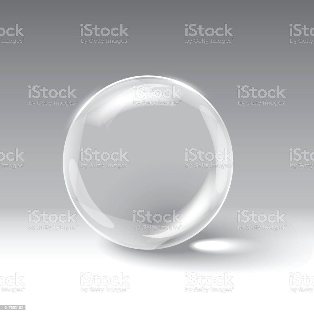 Esfera de vidrio - ilustración de arte vectorial