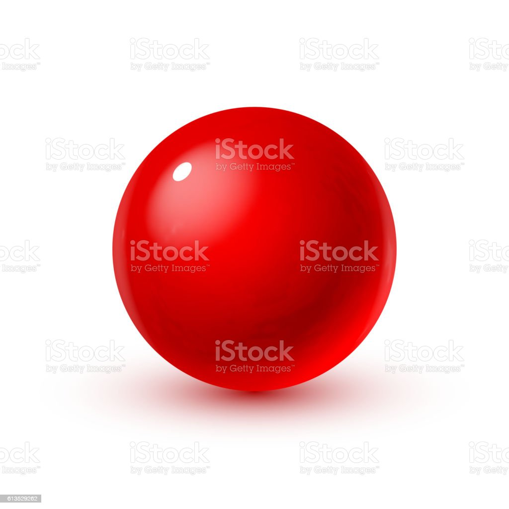 Glass sphere with blood - Illustration vectorielle