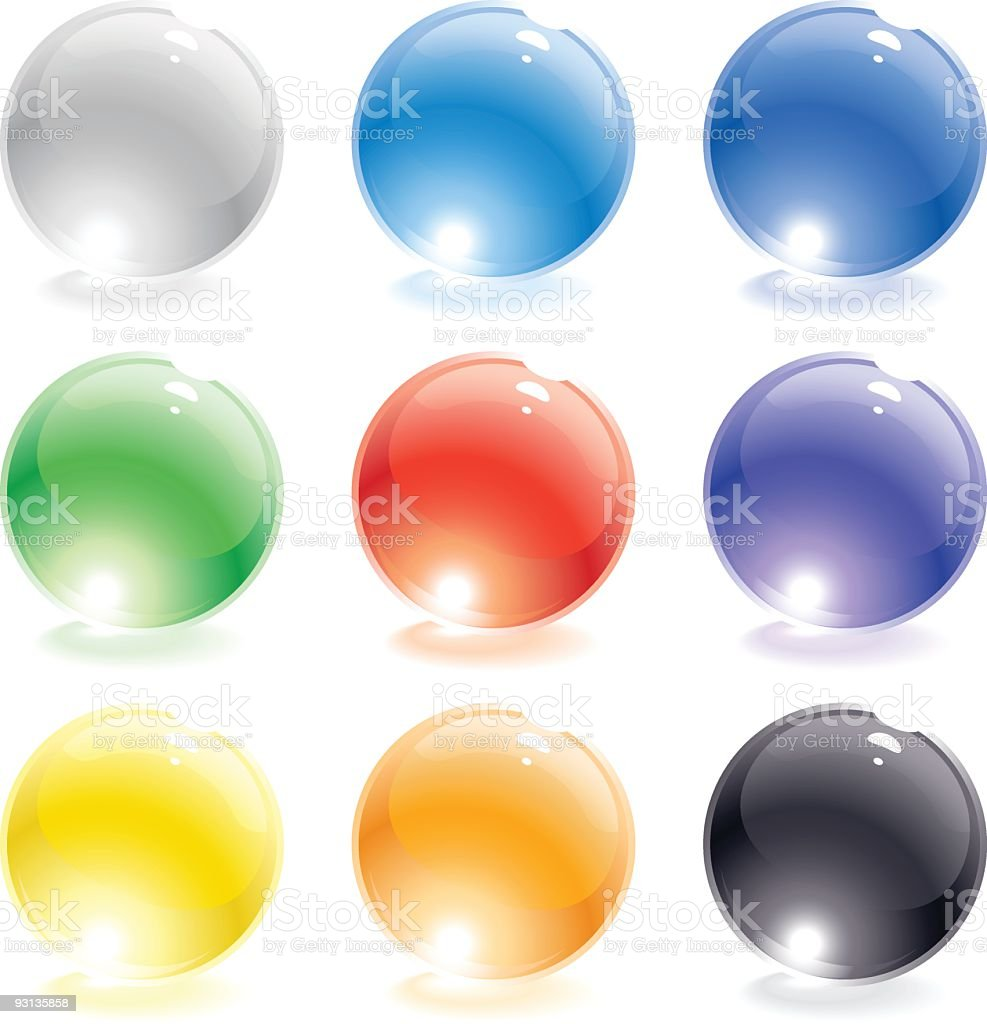 Glass Spheres royalty-free stock vector art