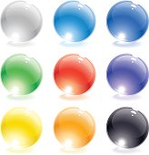 A set of translucent glass vector spheres. Download includes EPS file and hi-res jpeg.