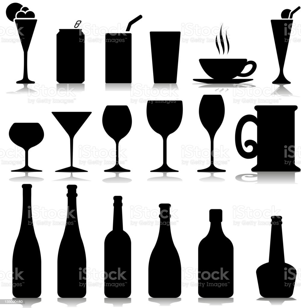 Glass Symbols Stock Vector Art More Images Of Alcohol 135090480