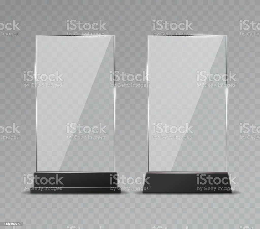 Glass Table Display Office Transparent Glass Table Signs
