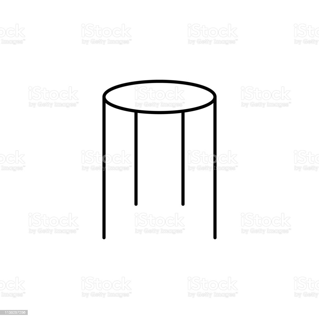 Glass Table Icon Element Of Outline Furniture Icon Thin Line Icon