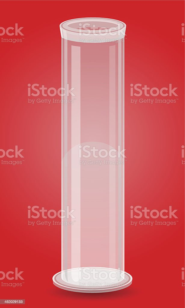 glass test tube vector illustration vector art illustration