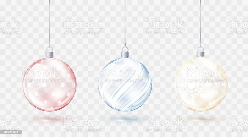 Weihnachtskugeln glas transparent rot