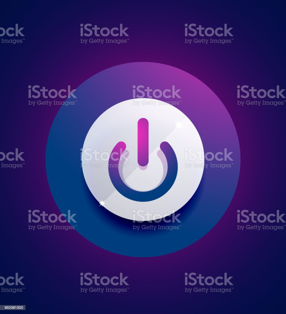 Glass Transparent Effect Power Start Button On Off Icon Vector Ui Or App  Symbol Design Stock Illustration - Download Image Now