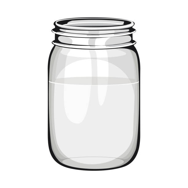 glass transparent vase with water glass transparent vase with water jar stock illustrations