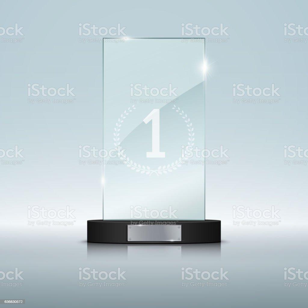 Glass Trophy Award. Vector illustration vector art illustration