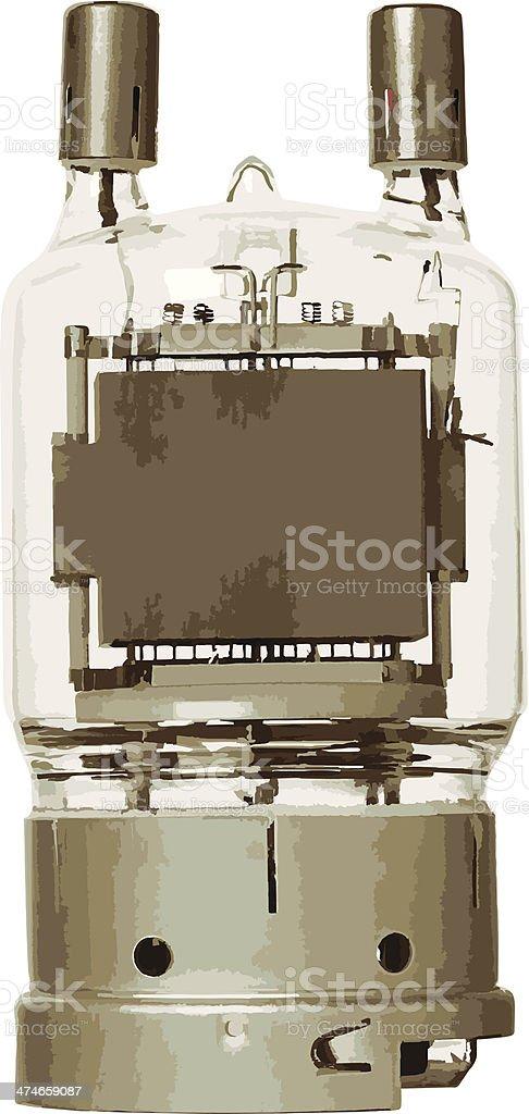 Glass vacuum tube (vector) royalty-free stock vector art