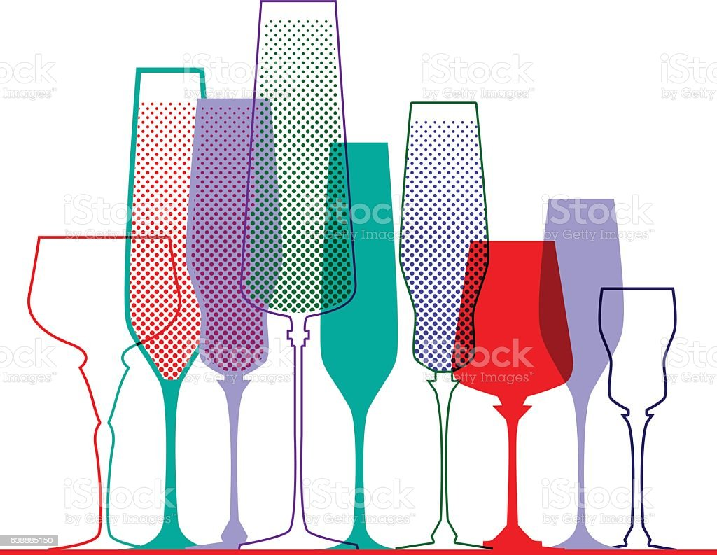 Glass vector art illustration