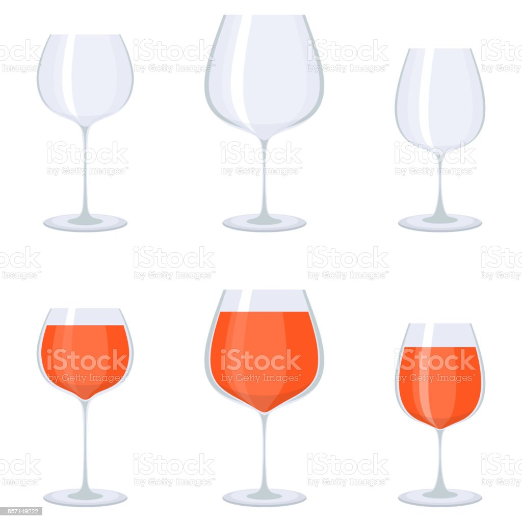 glass vine icons vector art illustration