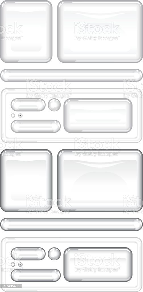 Glass web buttons and boxes royalty-free glass web buttons and boxes stock vector art & more images of backgrounds