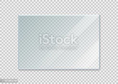 glass windowisolated on white background. Vector illustration. Eps 10.
