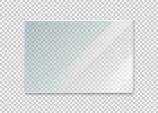 szkło szemowe na białym tle. ilustracja wektorowa. - okno stock illustrations