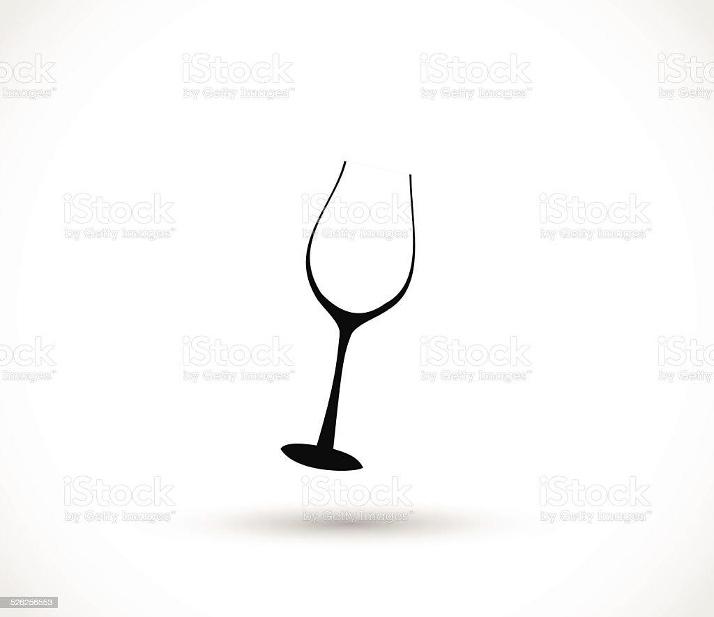 Icône Illustration Vectorielle De Verre De Vin Vecteurs libres de droits et plus d'images vectorielles de Abstrait