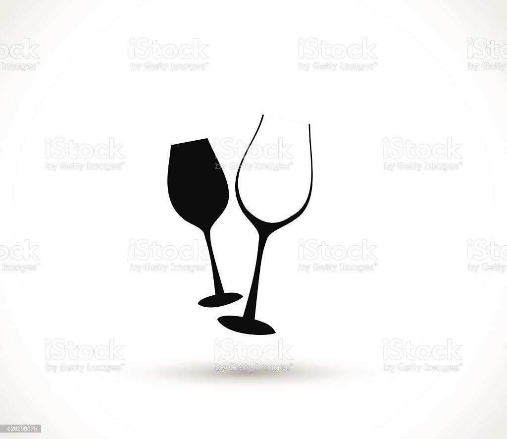 Icône Illustration Vectorielle De Verre De Vin Vecteurs