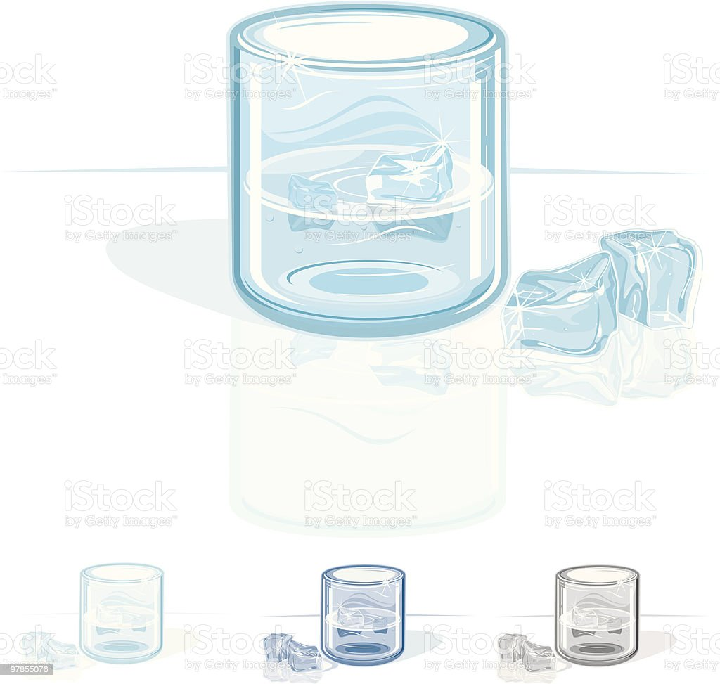 Glass with Ice royalty-free stock vector art