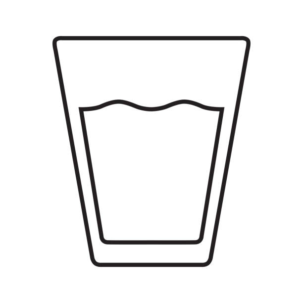 Royalty Free Half Full Glass Of Water Clip Art, Vector ...