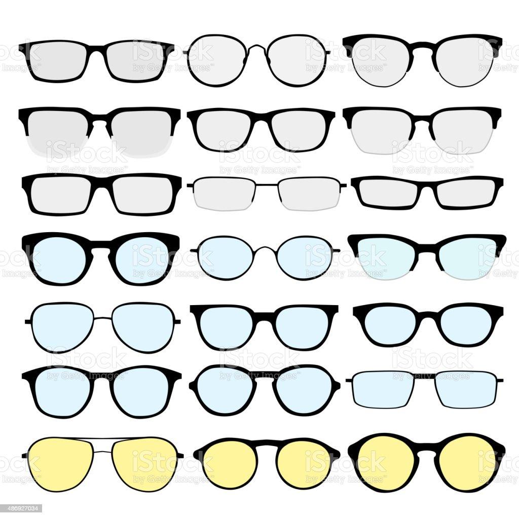 Glasses 2 vector art illustration