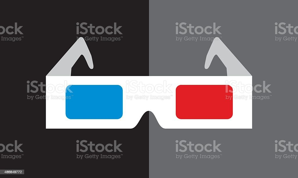Lunettes 3D Icon - Illustration vectorielle