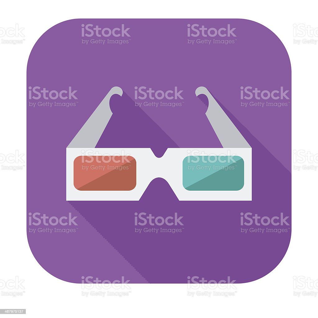 Glasses 3D single icon. royalty-free stock vector art