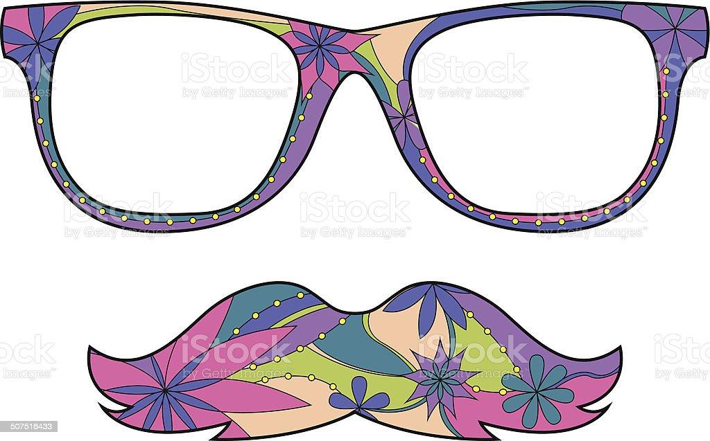 Glasses amd mustache