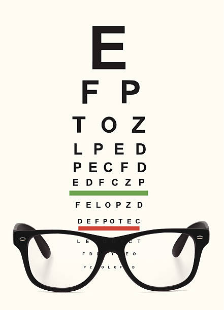 glasses and eye chart - optometrist stock illustrations, clip art, cartoons, & icons