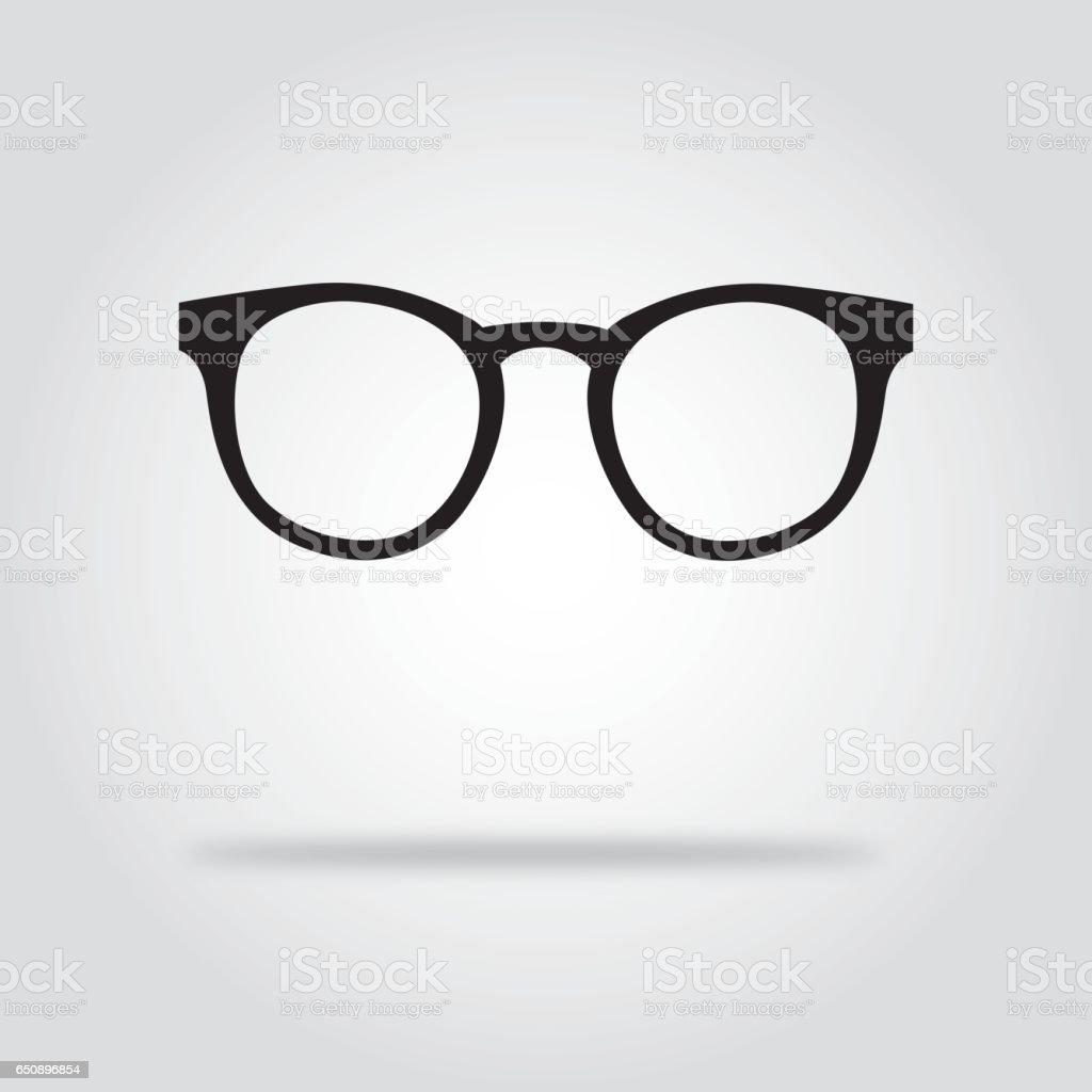 Glasses Black And White Icons vector art illustration