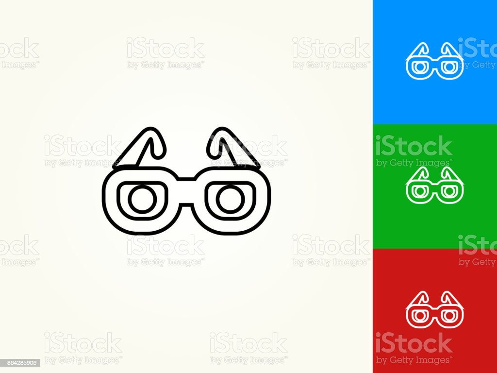 Glasses Black Stroke Linear Icon royalty-free glasses black stroke linear icon stock vector art & more images of black color