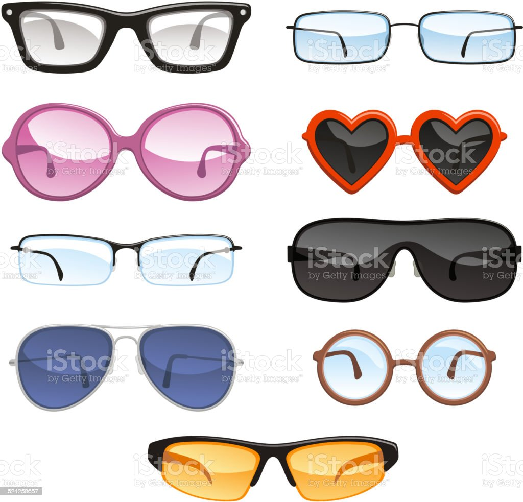 Glasses eyewear eyeglasses vector art illustration