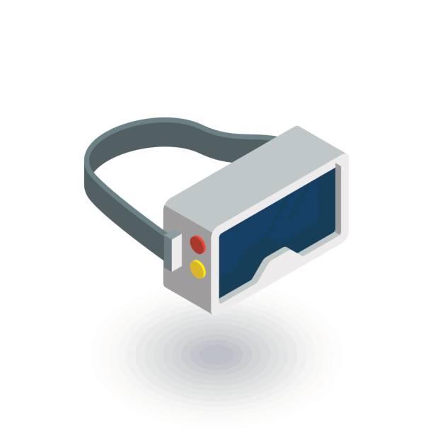 vr メガネ、ゴーグル、バーチャルリアリティ 360 尺フラット アイコン。3d ベクトル - ゲーム ヘッドフォン点のイラスト素材/クリップアート素材/マンガ素材/アイコン素材