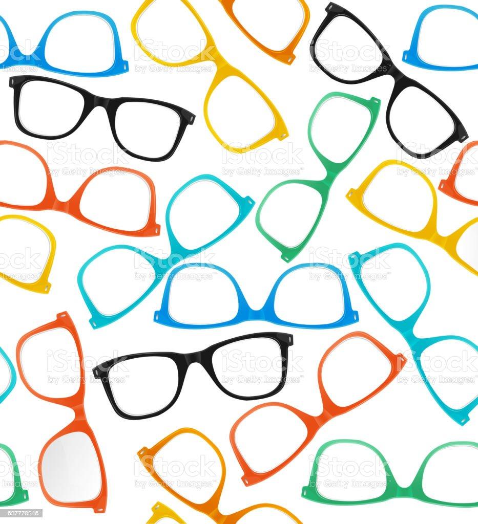 Glasses Hipster Style Background Pattern. Vector vector art illustration