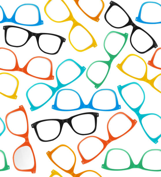 glasses hipster style background pattern. vector - okulary stock illustrations
