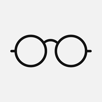 Glasses icon isolated on white background. Vector illustration.