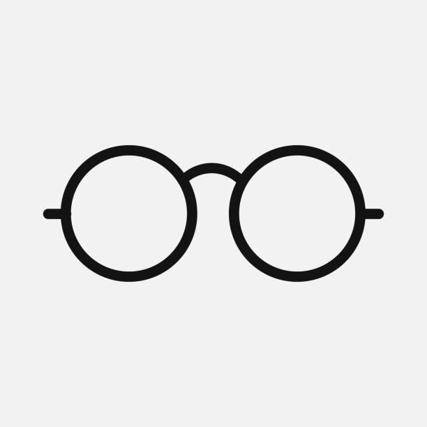 Glasses icon isolated on white background. Vector illustration. Glasses icon isolated on white background. Vector illustration. Eps 10. eyewear stock illustrations